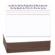 Flipside Products Alphabet Two-Sided Magnetic Whiteboard, 1' H x 1' W (Set of 24)