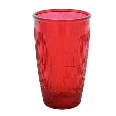 French Home 10 Oz. Tumbler (Set of 4); Cranberry Red WYF078278618185