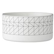 Bloomingville Carina Ceramic Bowl; White/Black