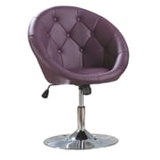 Roundhill Furniture Noas Contemporary Tufted Back Tilt Swivel Barrel Chair; Purple