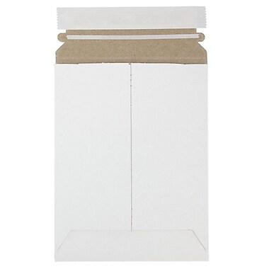 JAM PaperMD – Enveloppes d'expédition rigides pour photos avec fermeture auto-adhésive, 6 x 8 po, blanc, 12/paquet