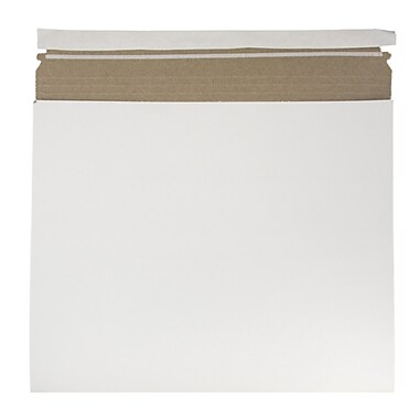 JAM Paper® Expandable Photo Mailer, 15 x 12.5 x 1, White, 6/Pack