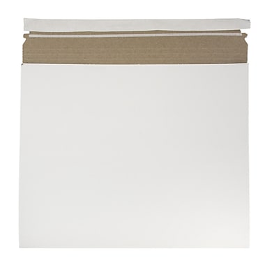 JAM Paper Expandable Photo Mailer, 15 x 12.5 x 1, White, 6/Pack