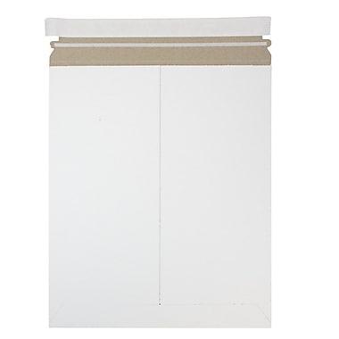 JAM PaperMD – Enveloppes d'expédition rigides pr photos, fermeture auto-adhésive, 12,75 x 15 po, papier recyclé, blanc, 12/pqt