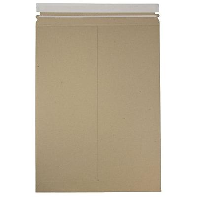 JAM Paper® Photo Mailer Stiff Envelopes with Self Adhesive Closure, 13 x 18, Brown Kraft Recycled, 6/Pack (8866646B)