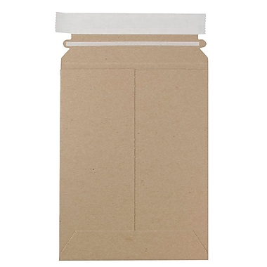 JAM Paper Photo Mailer Stiff Envelopes with Self Adhesive Closure, 6 x 8, Brown Kraft Recycled, 12/Pack