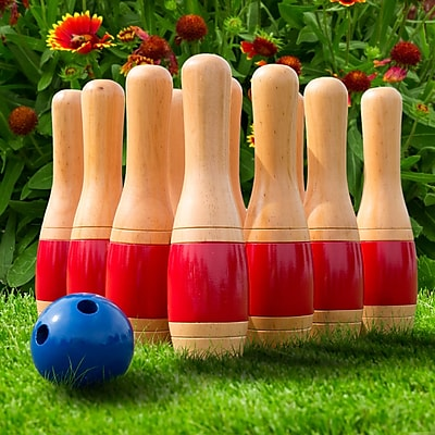 Hey! Play! 11 Inch Wooden Lawn Bowling Set (80-LB11)