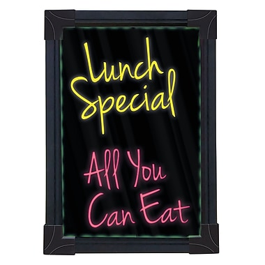 Quartet® Battery Operated LED Sign, 8