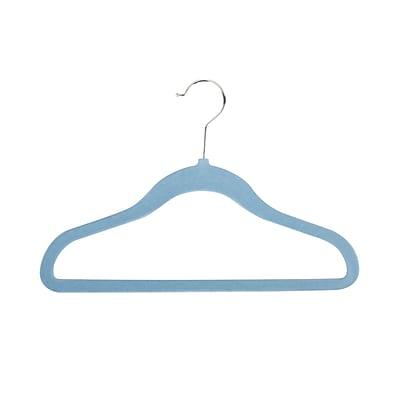 Honey Can Do Velvet Touch Kid's Hanger, Blue, 60-Pack (HNGZ04165)