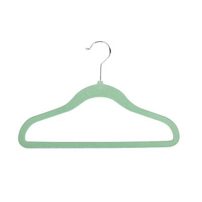 Honey Can Do Velvet Touch Kid's Hanger, Green, 60-pack (HNGZ04166)