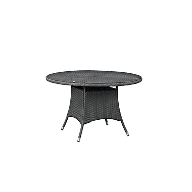 Modway Sojourn Outdoor Patio Dining Table, Chocolate (EEI-1927-CHC)
