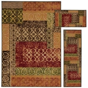 """StyleHaven Transitional Stamped Lattice Nylon 5'1""""X7'6"""", 1'6""""X5', 1'6""""X2'8"""" Beige/Multi Area Rug (WMNR639673PCL)"""