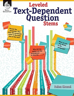 Leveled Text-Dependent Question Stems, Paperback (51475)