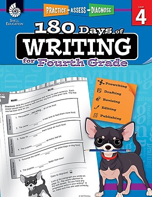 180 Days of Writing for Fourth Grade, Paperback (51527)