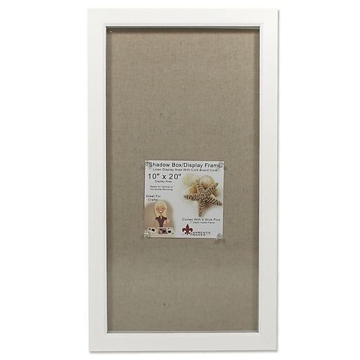 Lawrence Frames Cumberland 10 X 20 White Shadow Box Frame 168021