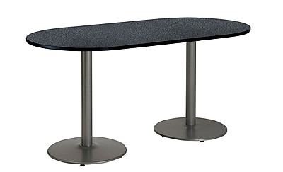 KFI Seating 72'' Oval Conference Table, Graphite Nebula (T3072RB1917SGRN)