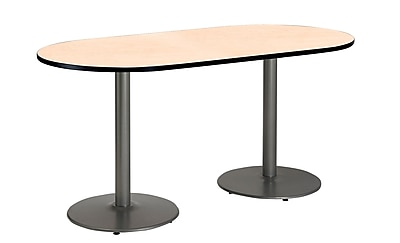 KFI Seating 72'' Oval Conference Table, Natural (T3072RB1917SLNA)