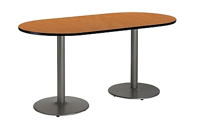 KFI Seating 72'' Oval Conference Table, Medium Oak (T3072RB1917SLMO)