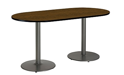 KFI Seating 72'' Oval Conference Table, Walnut (T3672RB1922SLWL)