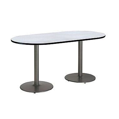 KFI Seating 72'' Oval Conference Table, Gray Nebula (T3072RB1917SGYN)