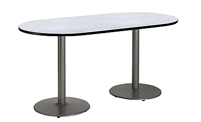 KFI Seating 72'' Oval Conference Table, Gray Nebula (T3672RB192SLGYN)