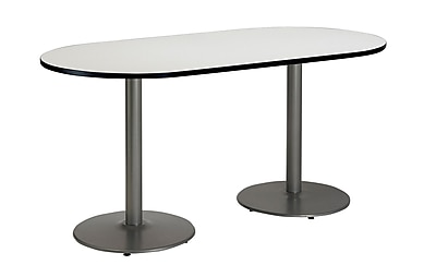 KFI Seating 72'' Oval Conference Table, Linen (T3072RB1917SLCL)