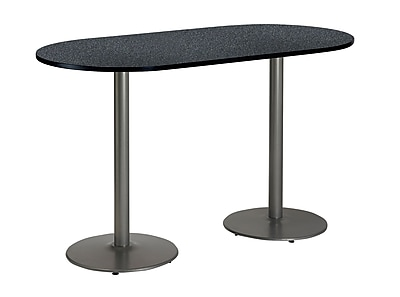 KFI Seating 72'' Oval Conference Table, Graphite Nebula (T3072RB197SGR38)
