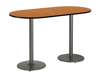 KFI Seating 72'' Oval Conference Table, Medium Oak (T3672RB192SMO38)