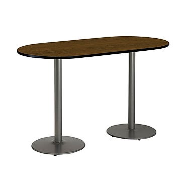 KFI Seating 72'' Oval Conference Table, Walnut (T3672RB192SWL38)