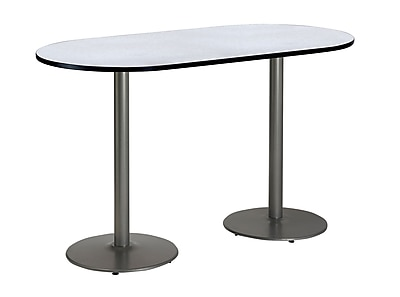 KFI Seating 72'' Oval Conference Table, Gray Nebula (T3672RB192SGY38)
