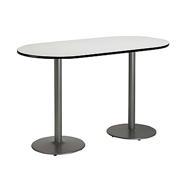 KFI Seating 72'' Oval Conference Table, Linen (T3072RB197SCL38)
