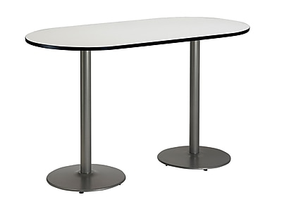 KFI Seating 72'' Oval Conference Table, Linen (T3672RB192SCL38)