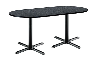 KFI Seating 72'' Oval Conference Table, Graphite Nebula (T3672R2025BKGRN)