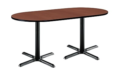 KFI Seating 72'' Oval Conference Table, Mahogany (T3072RB2015BKMH)