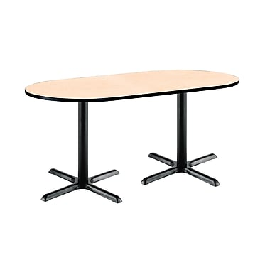 KFI Seating 72'' Oval Conference Table, Natural (T3072RB2015BKNA)