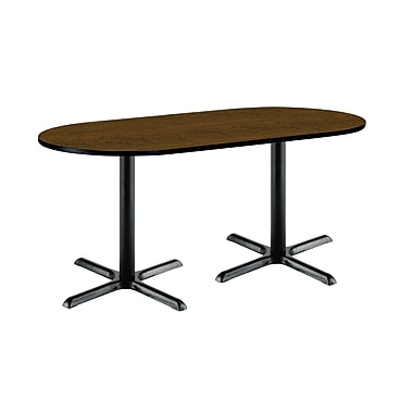 KFI Seating 72'' Oval Conference Table, Walnut (T3072RB2015BKWL)