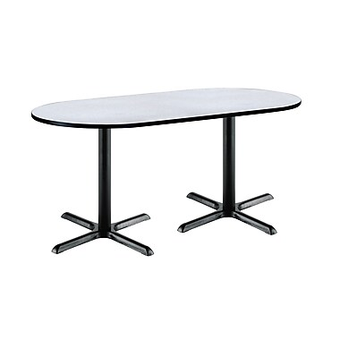 KFI Seating 72'' Oval Conference Table, Gray Nebula (T3672R2025BKGYN)