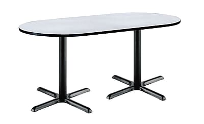KFI Seating 72'' Oval Conference Table, Gray Nebula (T3072RB2015BKGY)