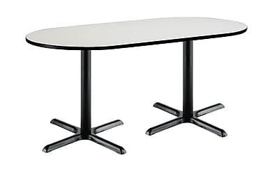 KFI Seating 72'' Oval Conference Table, Linen (T3672RB2025BKCL)