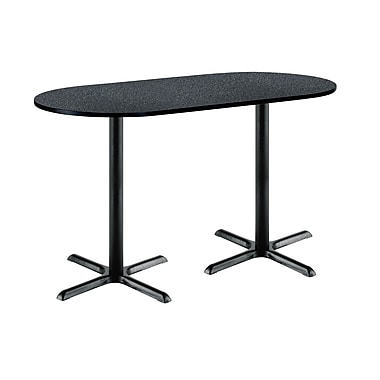 KFI Seating 72'' Oval Conference Table, Graphite Nebula (3072R2015BKGR38)