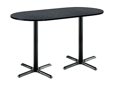 KFI Seating 72'' Oval Conference Table, Graphite Nebula (3672R2025BKGR38)