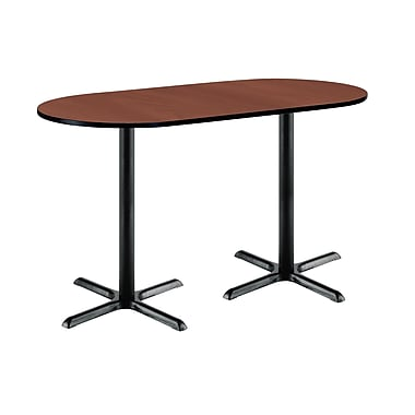 KFI Seating 72'' Oval Conference Table, Mahogany (3672R2025BKMH38)