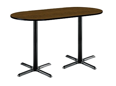 KFI Seating 72'' Oval Conference Table, Walnut (3672R2025BKWL38)