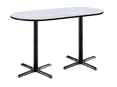 KFI Seating 72'' Oval Conference Table, Gray Nebula (3672R2025BKGY38)