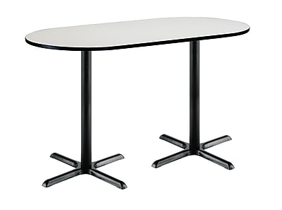 KFI Seating 72'' Oval Conference Table, Linen (3672R2025BKCL38)