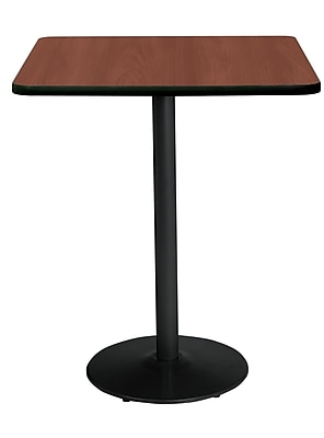 "KFI 30"" Square Bar Height HPL Table Mahogany (T30SQ1917BKMH38)"