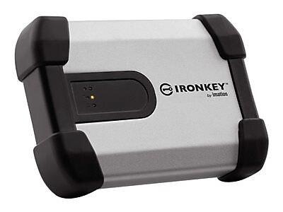 IronKey™ Enterprise 1TB 5 Gbps USB 3.0 Encrypted External Hard Drive, Black/Silver (H350)