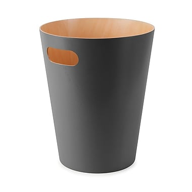 Umbra Woodrow Waste Can, Charcoal