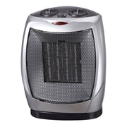 Royal Sovereign Compact Oscillating Ceramic Heater, Silver, (HCE-160)