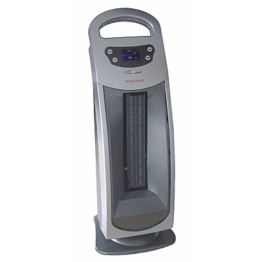 Royal Sovereign Digital Oscillating Ceramic Tower, Silver, (HCE-200)